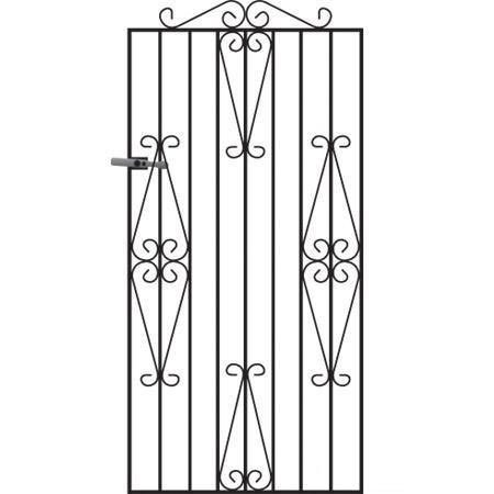 Winchester Wrought Iron Style Metal Side Gate