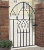 Abbey Low Bow Wrought Iron Style Metal Garden Gate