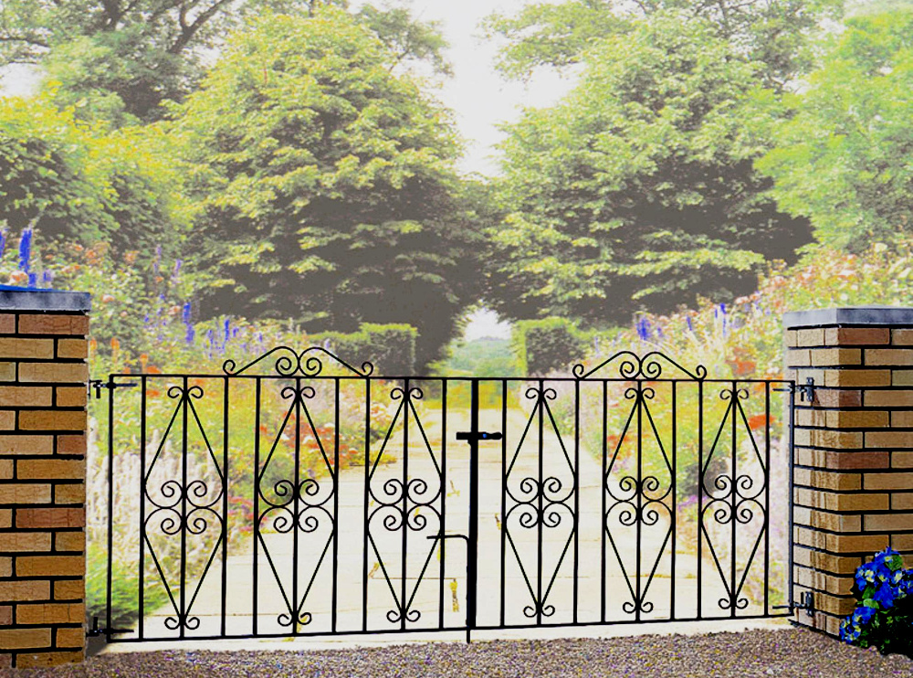 Stirling Wrought Iron Style Metal Driveway Gates