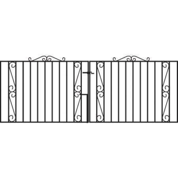 Clifton Wrought Iron Style Metal Driveway Gates