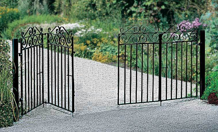 Space saving bi folding gates are great for short driveways