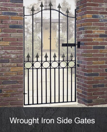 Wrought Iron Side Gates